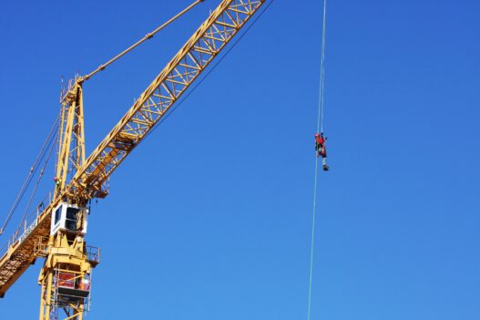 Elevated worker that graduated from Tech Safety Lines Specialized Training Courses